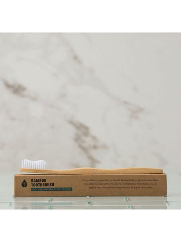 Simple Man Bamboo Toothbrush