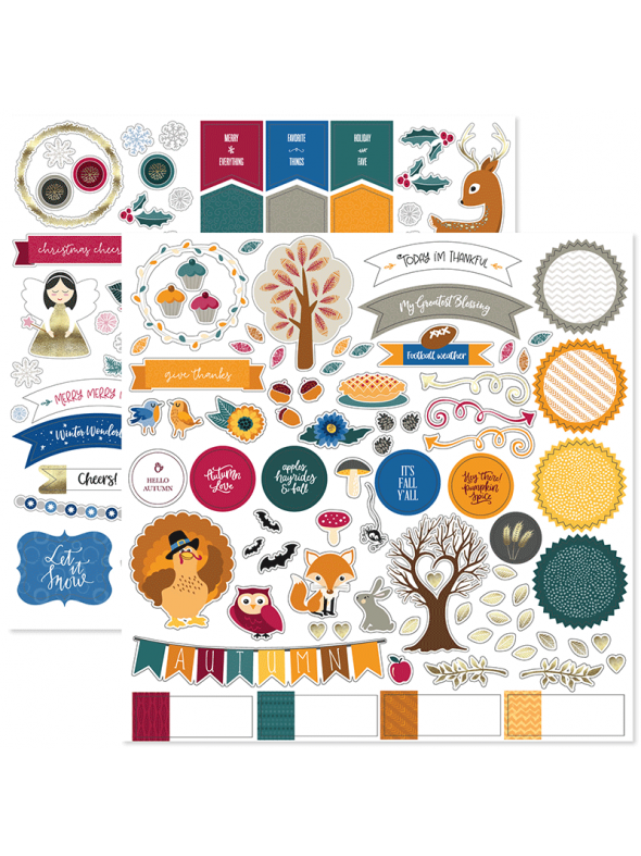 Fall Into Winter Stackable Stickers