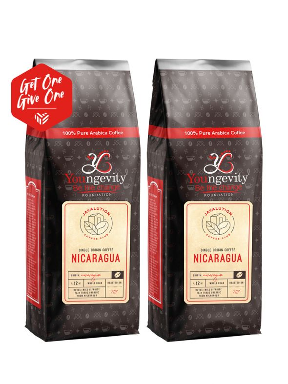 Javalution Club Single Origin Coffee Limited Edition—Nicaragua Whole Bean(12oz) [QTY: 2   Get One, Give One FREE]